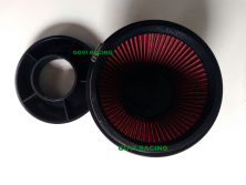 PU Top 6′′ red auto air filter 102mm height with 3′′/3.5′′4/′′ velocity stack