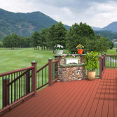 outdoor wpc composite decking /terrace flooring for home