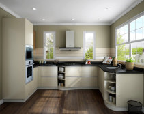What kinds of materials does OPPEIN kitchen use for doors?