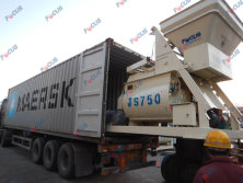 Two sets of HZS35 mixing plant shipped in two days