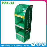 Paper Exhibition Rack Security Floor Display Stand for Library