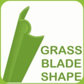 W shape designed grass