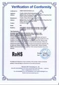 LED BULB LIGHT ROHS certificate of conformity
