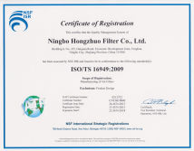 ISO/TS16949:2009 Certificate