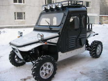 1100CC 4X4 Buggy in Russia with Cab Kit