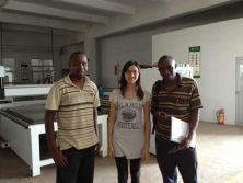 with customers from Kenya to see the cnc router machine