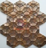 Irregular 3D design red copper metal mosaic tiles(CFM1141)