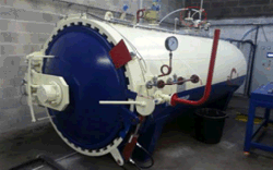 To France: 1650x4000mm Rubber Vulcanization Autoclave in 2013