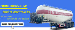 Promotion of cement trailer