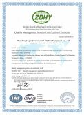 ISO 9001: 2015 Quality Management System Certification