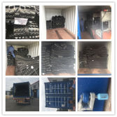 Loading Rubber Tracks full 20′ft container to Shanghai port