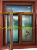 Solid Timber Aluminum Window with Tilt&Turn Design