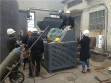 Top Quality Plastic Shredder Price / Waste Double Shaft Crusher Machine