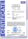 ceritifcate for our inkjet printer ECJ-400