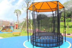 Trampoline outdoor playground