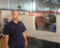Mr Lu-King Machine Engineer install machine in africa