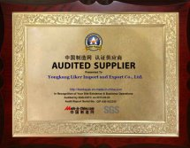 AUDITED SUPPLIER SGS CERTIFICATE from MADE-in-CHINA
