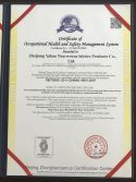OHSAS 18001 Certificate of Occupational Health and Safety Management System