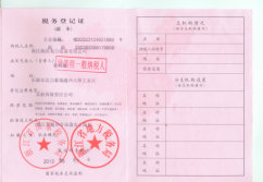 Tax registration certificate of HAIVO