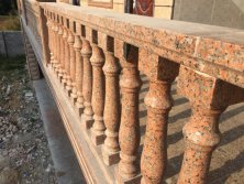 BFP Maple Red Granite Stone Railing Bulastrade