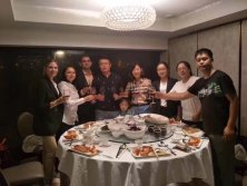 Dinner with fruit supplier in HONGKONG
