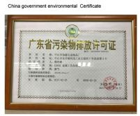 China government environmental certification