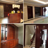 sapele wood furniture wood door integrated wood home decoration