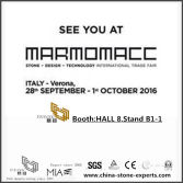 Italy Verona Stone Fair -YEYANG STONE FACTORY booth HALL 8 Stand B1-1