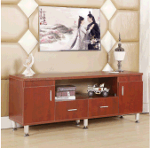 Wood Modern TV Cabinet with 2 Doors 2 Drawers