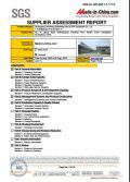 SUPPLIER ASSESSMENT REPORT in 2012 COMPANY OVERVIEW