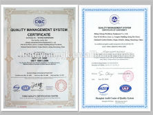 Certificate of Our Company