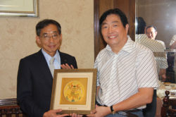 Japan Matsushita president and Mr. XU