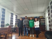 Madagascar client visit our 20TD Soybean solvent extraction Plant