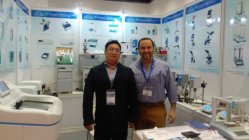 buyer visit our booth lab equipment