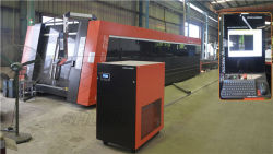 Laser machine coming, to see the professional car lift factory in here