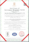 ISO 14001 Environment management certificate
