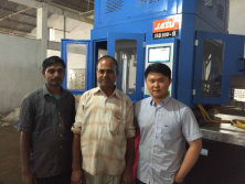 India test blow molding machine & mould for led bulb housing