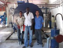 boiler service in Suriname for 2 ton/hr steam boiler in South America