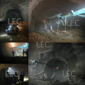 concrete spray system shotcrete machine used in tunnel construction