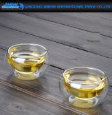 Double Wall Glass Cup for Tea Lover
