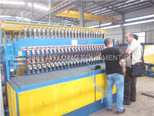 Algeria customer come to visit reinforcing mesh welding machine