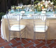 Wedding table and chair