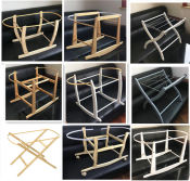 WOOD BASKET STAND