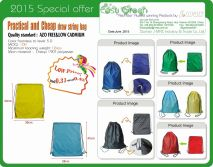 2015 Special offer practical and cheap draw string bag