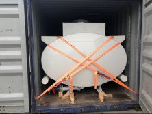 Moblie Hydrochloric Acid Tank Body 10cbm Steel Lined LDPE 16mm Export