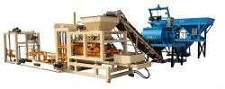 QT4-15 full automatic hydraform concrete paver brick machine