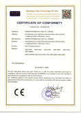CE-LVD Certificate of Smoke & Gas Detector