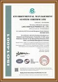 We has been certified with ISO14001.