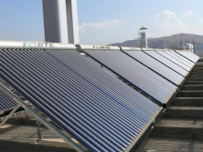 Project Insllation of heatpipe solar collectors