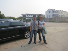 Customer from Ukraine visiting for PE recycling machine